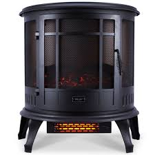 Electric Fireplace Heaters Amazon Com Della 1400w Electric Fireplace Portable Stove Space