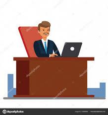 blanc au bureau consultant travaillant au concept bureau dessin animé plat vector