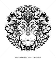 monkey tattoo stock images royalty free images u0026 vectors