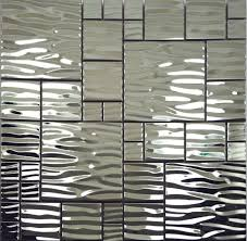 Best MATERIAL Mosaic Images On Pinterest Kitchen Backsplash - Silver backsplash
