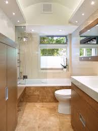 bathroom wooden flooring plus wall mirror for small bathroom