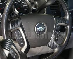 gmc sierra steering wheel light replacement 07 13 carbon fiber steering wheel spoke overlay decal cover