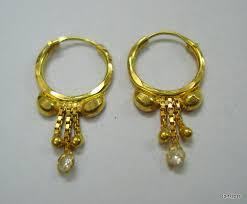 infant earrings traditional design 18kt gold earrings hoop earrings infant