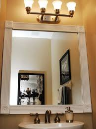 Bathroom Mirror Molding Dress Up Your Bathroom Mirror By Adding Molding Around The Edge Of