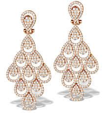 gold chandelier earrings diamond halo pyrus chandelier earrings 9 40ct in 18k gold