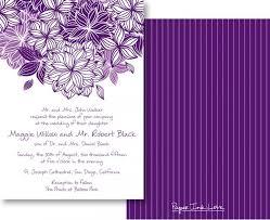 Wedding Invitations Purple Wedding Invitations With Modern Purple Flower U0026 Pinstripes Save