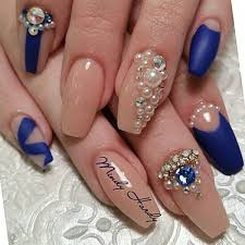 bridal nails with pearls google search nails pinterest