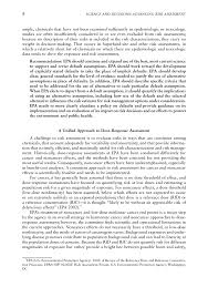 summary science and decisions advancing risk assessment the