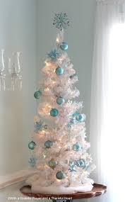 White Christmas Tree With Blue Decorations Paper German Stars Video Tutorial Grateful Prayer Thankful Heart