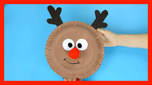 reindeer paper plate craft cute christmas crafts for kids youtube