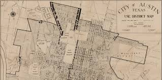 Texas Map Austin City Of Austin Texas Use District Map 1939 By Austin Chamber Of