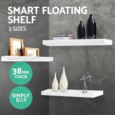 3pcs wall floating shelf set concealed shelves bookshelf shop