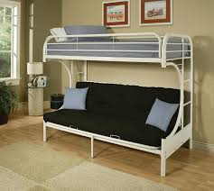 Installation A Metal Bunk Bed With Futon Modern Wall Sconces And - Metal bunk bed futon combo