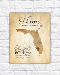 new house housewarming gift art print map home key first house