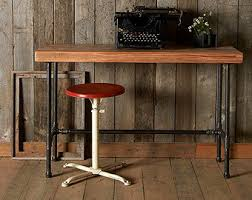 small wood desk with mid century hairpin legs 36 x