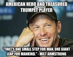 Trumpet Player Memes - american hero and treasured trumpet player that s one small step