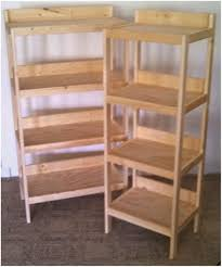 White Wooden Shelves by Small White Wooden Shelving Unit Rustic Wood Shelf Produce Display