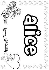 alice coloring pages hellokids
