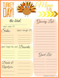 thanksgiving menu template sales report template