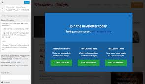 md popups custom templates marketers delight