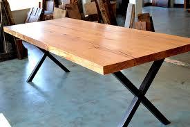 Oak Slab Table by E U0026 K Vintage Wood Designs Custom Furniture Slabs Eandkwood Com