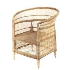 couverts en bambou fauteuil tissé en bambou et rotin malawi maisons du monde