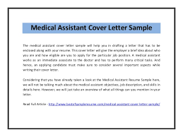 Resume Example For Medical Assistant by Cover Letter For Medical Assistant Winsome Inspiration Medical