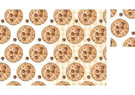 free vector free vector chocolate chip cookies seamless pattern