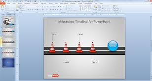 free milestone shapes u0026 timeline for powerpoint free powerpoint