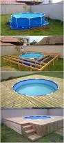 build a pool house creative ideas diy above ground swimming pool with pallet deck