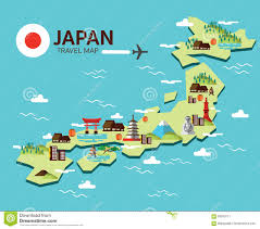 Japan Design by Japan Map And Travel Infographic Template Design Stock Vector