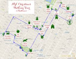 New York On The Map by A Nyc Christmas Walking Tour U2013 Live Love Simple
