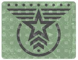 free green military style grunge emblem with gray star vector
