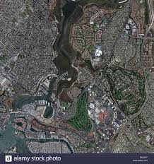 Map Of Orange County Ca Aerial Map View Above Newport Beach Newport Bay Santa Ana River