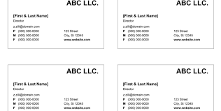 make business cards 1 microsoft business card template free
