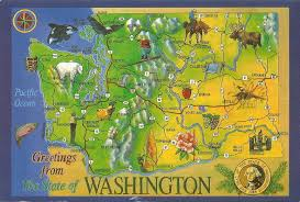 Map Of Washington State by My First From Washington State The World On My Doorstep