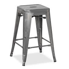 Industrial Metal Bar Stool Silver 24 Metal Barstool Yd 610sil Industrial Metal Yd H610 H09