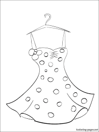summer dress coloring coloring pages