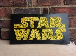 star wars inspired string art board wooden sign home decor wood