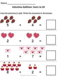 count u0026 color valentine u0027s day addition valentines colors and math