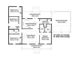house plans with covered porch 4 bedrm 1729 sq ft country house plan 123 1078