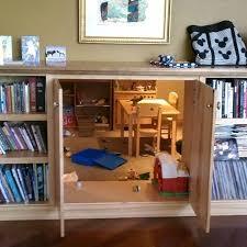 hidden room creative idea interior design with wall mounted brown wood