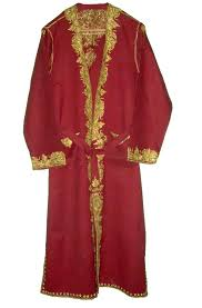 dressing gown kashmir wool dressing gown burgundy olive embroidery wg 001