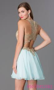 fit and flare lace bodice party dress promgirl
