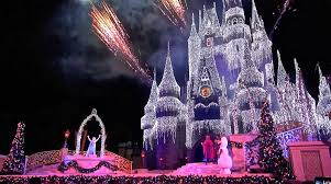 a frozen wish 2014 cinderella castle lighting