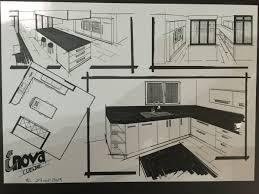 dessiner en perspective une cuisine perspective d une cuisine contemporaine cuisines inovconception