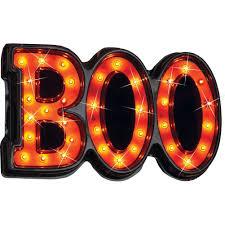amazon com lighted halloween boo sign home u0026 kitchen