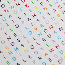 word search wrapping paper personalised word search print with 100 words by clive sefton