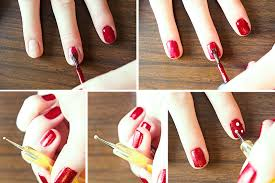 pretty simple life red christmas nails