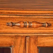 antique oak bookcase display case glazed library antiques atlas